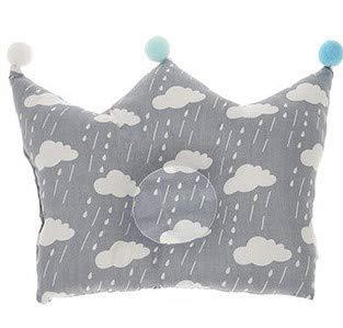 Gris Blanco Nubes Corona almacenar Cojín de bebé recién ...