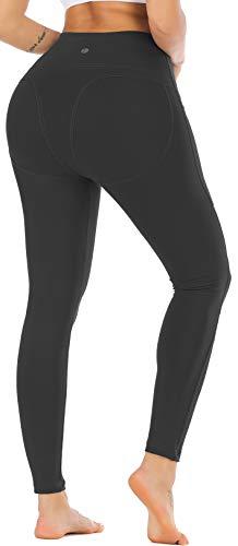 RUNNING GIRL Sexy Butt Lift Yoga Leggings High Waist Tummy Control 4 Way Stretch Yoga Pants for Women Active Running Workout Shapewear Push Up Leggings(CK2308 Black.M) (Big Booty Black Girls In Yoga Pants)