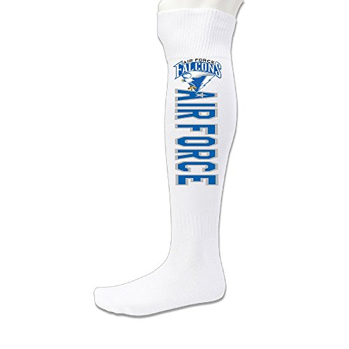 - Unisex Air Force Falcons Knee High Long Athletic Soccer Rugby Football Sport Tube Sock White