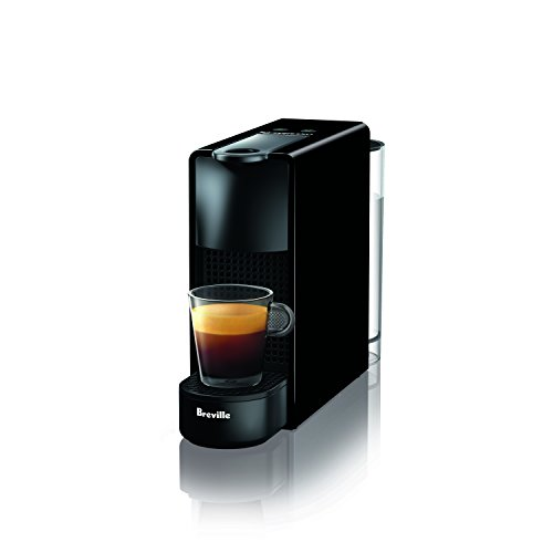 - Breville-Nespresso USA BEC220BLK1AUC1 Nespresso Essenza Mini Espresso Machine with Complimentary Capsules, Piano Black