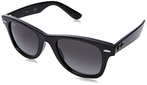 Ray-Ban Junior RJ9066S Wayfarer Kids Sunglasses, Black/Gray Gradient, 47 mm (New Wayfarer Junior)