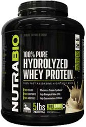 NutraBio 100% Pure Hydrolyzed Whey Protein (5 Pounds Alpine Vanilla) – Ultra Fast Absorbing Protein Source