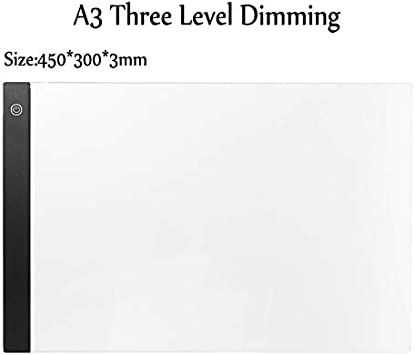 A3 A4 A5 Tableta gráfica Digital Tablero de Escritura de Dibujo Caja de luz Tableta electrónica portátil Rastreo Almohadilla de Copia Regulable (Color : A3 3 Level Dimming): Amazon.es: Electrónica