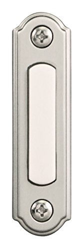 Heath Zenith SL-256-02 Push Button, Satin Nickel