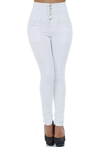 Vaqueros malucas mujer skinny para Blanco Zwqdr4qYxW