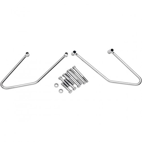 Drag Specialties Chrome Saddlebag Support Brackets 06-08 Softail 3501-0304