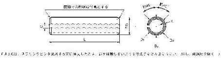 生地 ステンレス スプリングピン(軽荷重用 4X12 【25個入】