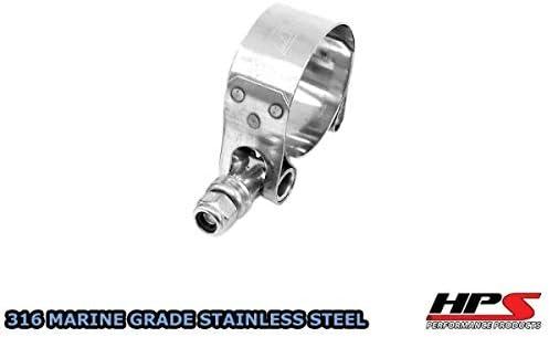 "41mm-46mm HPS 1.61/""-1.77/"" Marine 316 Stainless Steel T-Bolt Hose Clamp"