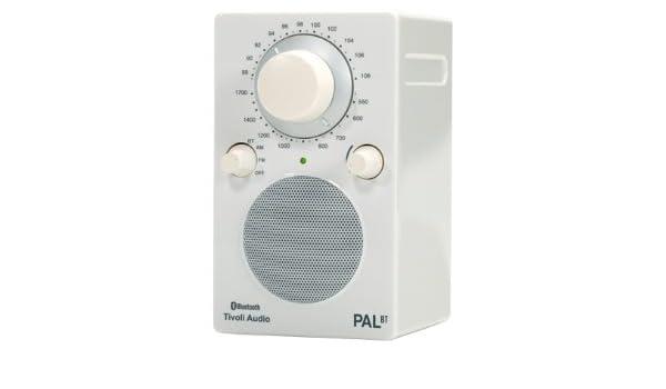 Tivoli Audio PAL BT Portátil Analógica Blanco - Radio (Portátil, Analógica, AM,FM, De 1 vía, 6,35 cm, 6,35 cm (2.5