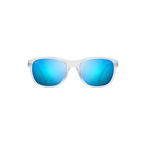 Maui Jim Wakea B745-05CM   Polarized Frosted Crystal Classic Frame Sunglasses, Patented PolarizedPlus2 Lens Technology