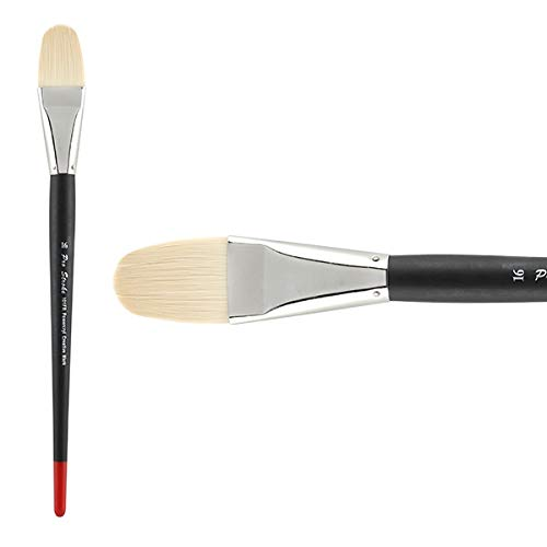 Double Thick Filbert - Creative Mark Pro Stroke Powercryl Paint Brush Professional Acrylic Brush with Synthetic Hair Filament Use with Acrylic Paint and Water Soluble Oils - Single Brush Only - Filbert 16