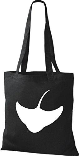 Unbekannt - Bolso de tela de algodón para mujer negro
