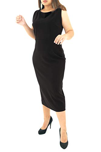 5ea21128fd392 Viris Zamara Womens Sexy Sleeveless Boat Neck Cocktail Formal Office Work  Business Evening Party Classic Slimming Knee Length Sheath Pencil Midi  Dress ...