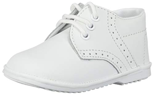 Angels Garment Baby Boys White Oxford Dress Shoes 4 from Angels Garment
