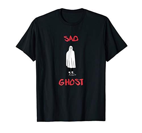 Funny Sad Ghost Halloween T-Shirt Gift Goth Girl Fashion Boy -