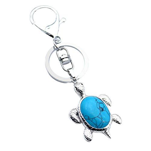 Car Keychain Key Ring Sea Turtle Handbag Animal Pendant Charm Cell Phone (Color - Blue Turquoise)