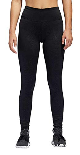 adidas Womens Embossed Cold Weather Tights Black Small (Womens Spring Adidas)