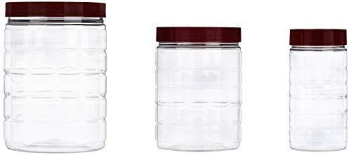 Amazon Brand – Solimo Checkered Jar Set of 18