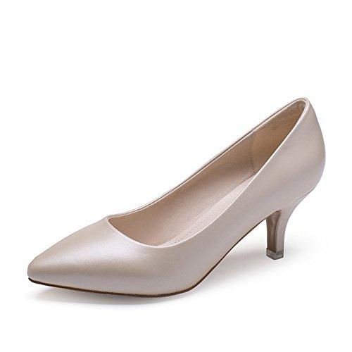 PUMPS Womens Shoes Fine Heel Flacher Mund Schuhe,Summer-Spitze Chinesische und Koreanische Version der High Heels-C Fußlänge=23.3CM(9.2Inch)