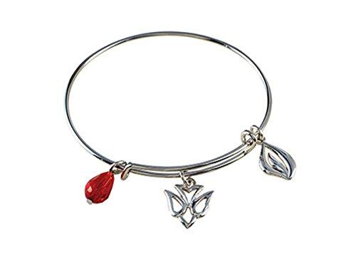 Confirmation Holy Spirit Silver Tone Chalice Charm Bangle Bracelet