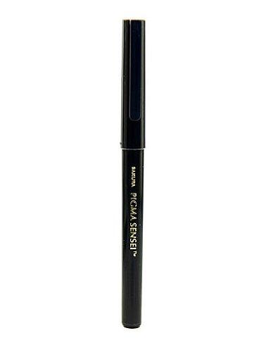 Sakura Pigma Sensei Pens 0.6 mm Bullet Fiber tip Black [Pack of 12 ]