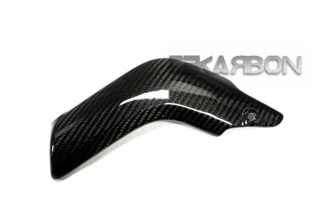 (Tekarbon, Replacement for Lower Heat Shield, Honda CBR600RR (2007-2015), Carbon Fiber, 2x2 Twill Weave )