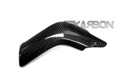 Fiber Carbon Cbr600rr - Tekarbon, Replacement for Lower Heat Shield, Honda CBR600RR (2007-2015), Carbon Fiber, 2x2 Twill Weave