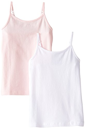 The Children's Place Big Girls' Spaghetti-Strap Camisole (Pack Of Two), Shell/White, Large - Strap Spaghetti Shell