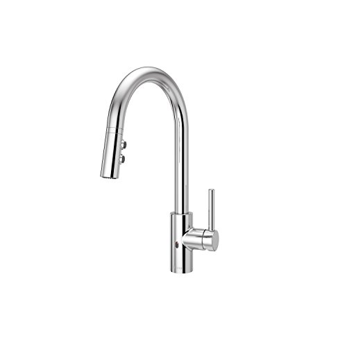 Pfister LG529ESAC Stellen React Touch-Free 1-Handle Electronic Pull-Down Kitchen Faucet, Polished - Chrome Electronic Polished
