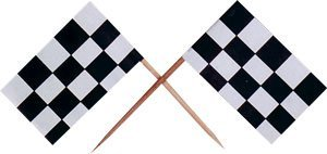 Fun-Express-Wooden-Race-Car-Flag-Picks-Black-and-White