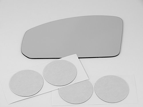 Fits 03-07 Inf G35 Coupe, Left Driver Replacement Mirror Glass Lens with Adhesive, USA (Does Not Fit the Sedan)
