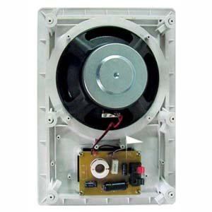 InstallerParts 8 Inch 2-Way In-Ceiling/In-Wall Speakers -- Premium Home Stereo Speakers -- White (Without Rear Cover)