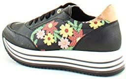 PRIMA CLASSE Donna Sneakers Christmas Flower Hig Geo Crossing Nero Mod. A075 609A