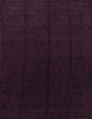 Rug Source New Hand Made Solid Purple Gabbeh Traditional Oriental Area Rug ()