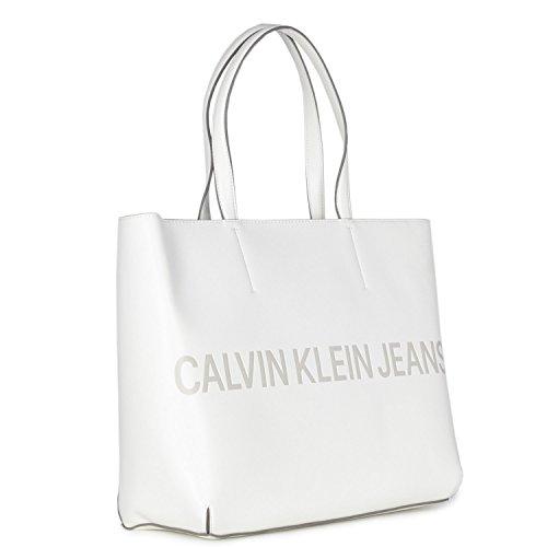 SCULPTED Klein Blanc Calvin FEMME K40K400382 LOGO SAC TOTE ZIP TtTwqgzx