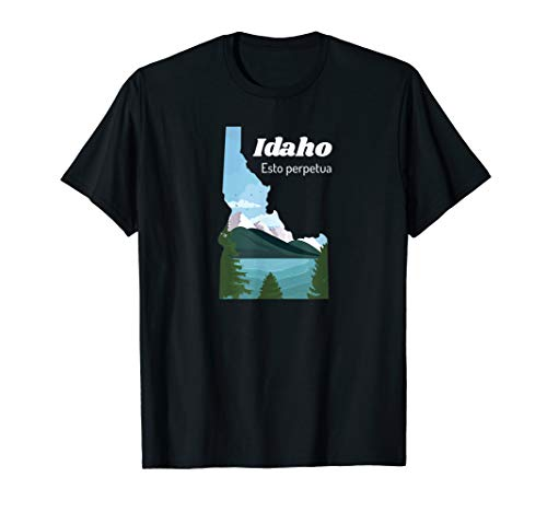 - Idaho Proud State Motto Esto Perpetua T-Shirt