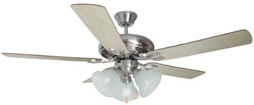 Design House 154013 Bristol 3 Light Ceiling Fan 52″, Satin Nickel Review