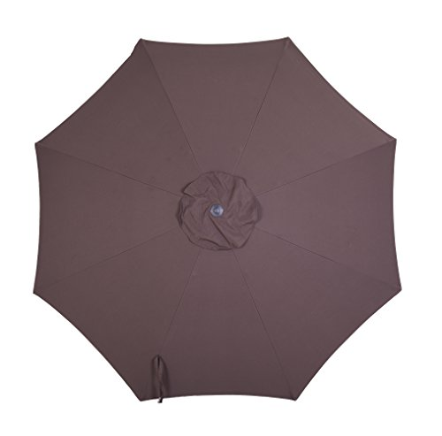 Patio Watcher Replacement Umbrella Canopy Fabric for 9ft 8 Ribs (Canopy Only),Chocolate (9' Chocolate)