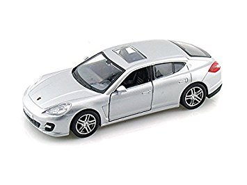 RMZ Porsche Panamera Turbo Silver Pull Back Functional Doors (New No Box)