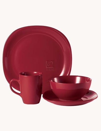 Thomson Pottery Quadro Red 16 PC Dinnerware Set Service For 4 & Amazon.com   Thomson Pottery Quadro Red 16 PC Dinnerware Set Service ...