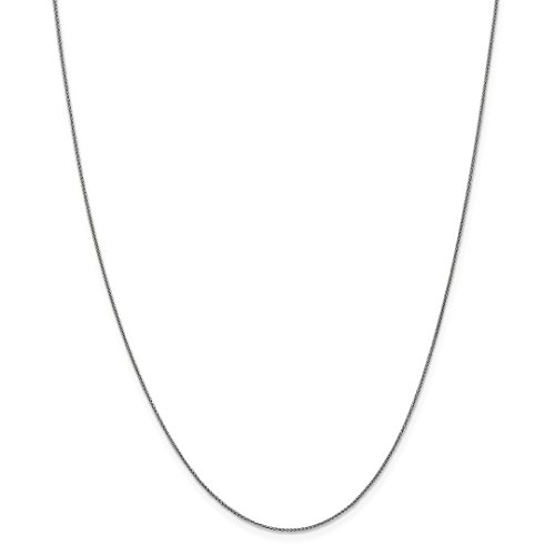 ICE CARATS 14k White Gold .8mm Baby Spiga Link Wheat Chain Necklace 16 Inch Fine Jewelry Ideal Mothers Day Gifts For Mom Women Gift Set From Heart (Link Spiga)