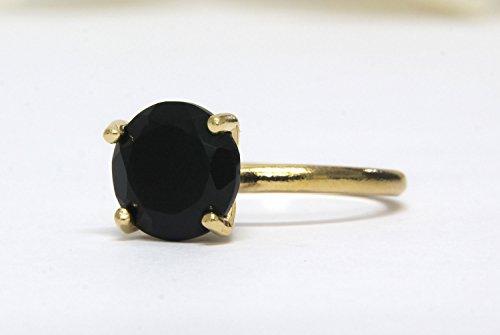 anillo redondo de ónix, anillo negro, anillo de diamantes negro, anillo de piedra, anillo de oro, anillo de cóctel, anillo...