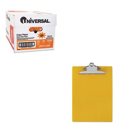 KITSAU21605UNV21200 - Value Kit - Saunders Plastic Antimicrobial Clipboard (SAU21605) and Universal Copy Paper (UNV21200)