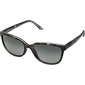 Maui Jim Honi Polarized Grey Tortoise Stripe cateye Frame Sunglasses, with Patented PolarizedPlus2 Lens Technology