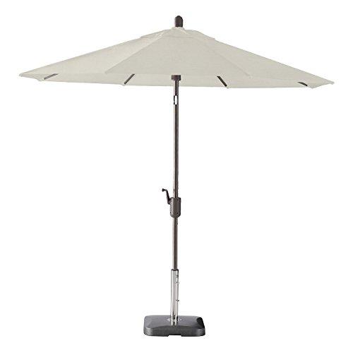 Pismo Dawn 9ft Round Premium Push Tilt Market Umbrella (Antique Bronze, Sunbrella- Natural)