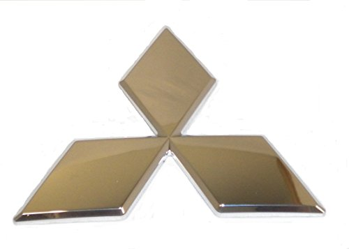 Genuine Mitsubishi Triple Diamond Emblem Chrome Rear 7415A111 Lancer and Evolution 2008 2009 2010 2011 2012 2013 2014 2015 2016 2017