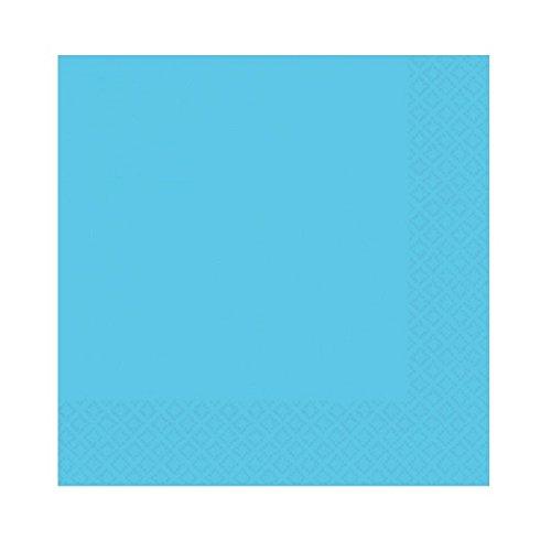 Amscan – Tovaglioli piccole, colore  blu dei Caraibi, Travis Designs 50015 – 54