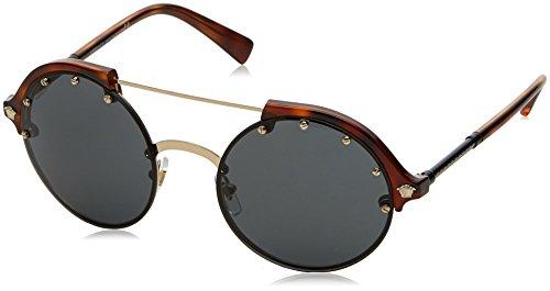 Versace Womens Sunglasses Gold/Grey Plastic - Non-Polarized - ()