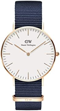 Daniel Wellington Classic Bayswater watch, blue NATO strap