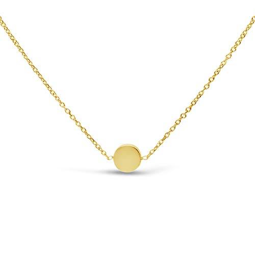 James Free14kSolidYellow GoldCircle Disc Necklace,16-18 inches